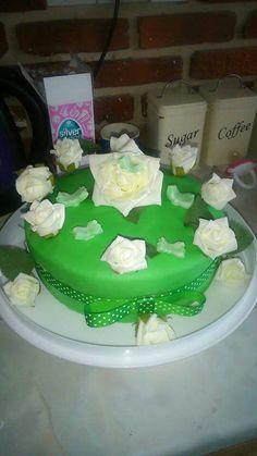 Macmillian coffee morning themed cake