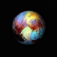 Enhanced False Color Pluto, variant | by sjrankin