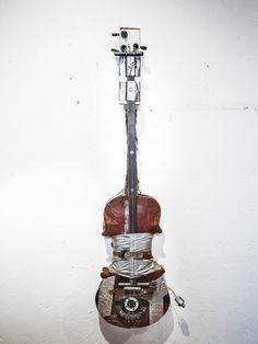 scrap instrument by Artist Blacksmith Tobbe Malm Malm, Blacksmithing, Scrap, Guitar, Music, Artist, Blacksmith Shop, Musica, Musik