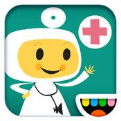 Toca Doctor: Be a doctor for a day! Examine and help your patient by solving 21 fun puzzles and mini-games that take place in the human body. Don't miss the beautiful artwork and fun sounds!