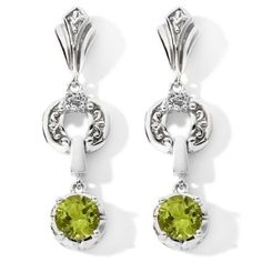 Victoria Wieck Round Gemstone and White Topaz Drop Earrings