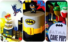 Top That!: Retro 'Batman Inspired' Dessert Table {Top That! Paperie}