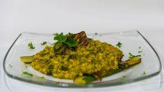 Orzo con zucchine e zafferano - ricetta vegana