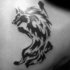 The most meaningful wolf tattoo designs for men, women & couples alike. Unique tribal, traditional & geometric wolf tatoo designs for each individual. Geometric Wolf Tattoo, Tribal Wolf Tattoo, Wolf Tattoo Sleeve, Sleeve Tattoos, Wolf Tattoos Men, Tribal Tattoos For Women, Tattoos For Guys, Wolf Tattoo Design, Tattoo Designs And Meanings