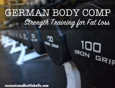 German Body Comp is a style of lifting in which you do specific exercises paired in sets (usually one upper body exercise and one lower body exercise) and perform higher repetitions (12-15) with shorter rest periods.