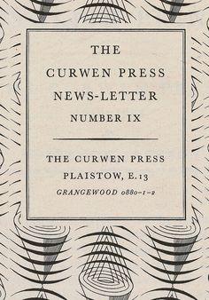 Curwen Press in Eye70