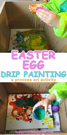 Easter Egg Drip Painting – HAPPY TODDLER PLAYTIME
