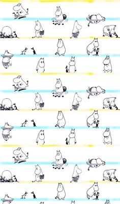 Shared by TAOZI. Find images and videos about wallpaper and moomin on We Heart It - the app to get lost in what you love. Phone Backgrounds, Wallpaper Backgrounds, Iphone Wallpaper, Moomin Wallpaper, Pattern Wallpaper, Moomin Tattoo, Moomin Valley, Tove Jansson, Screen Wallpaper
