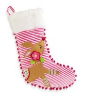 Coming this fall to SMITH's VARIETY! Reindeer Velour Stocking | Baby | Mud Pie