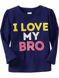 I Love My Bro - Tees for Baby | Old Navy Трикотажная кофточка из хлопка.