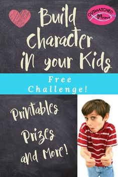Build Character in Your Kids {Free Challenge!} – The Outmatched Mama Build Character in Your Kids {Free Challenge!} – The Outmatched Mama,Empowering Kids with Character Building character in your children takes practice, and intentionality. Character Activities, Character Education Lessons, Teaching Character, Social Skills Activities, Kid Character, Activities For Kids, Physical Development, Character Development, Lessons For Kids