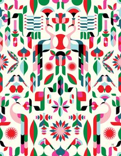 Illustrators design bold patterns for Heal's first modern fabric line - Digital Arts