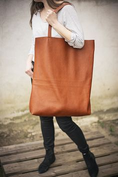 Brown Oversized Giant Tote Bag by Patkas €169