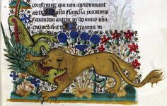dragon vs. lion hours of Jean de Montauban bretagne 1450 BM Rennes