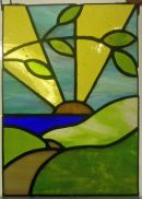 Tiffany stained glass panel by Lindsay Hall