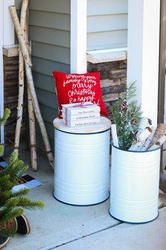 Christmas Carol, Christmas Time, Birch Logs, Spruce Tree, Shelfie, Christmas Decorations, Holiday Decor, Level Up, Porch Decorating