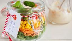 Salada no Pote de Vidro - Como fazer ~ Dicas para Casa e Lazer
