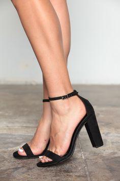 Necessary Black Chunk Heels