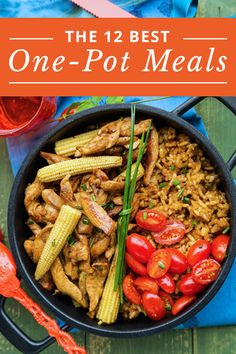 Don't waste time doing a bunch of dishes! Try the 12 Best One-Pot Meals. #SkinnyMs #OnePotMeals