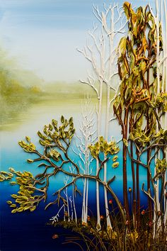 24x36 Lake Scene By: Justin Gaffrey