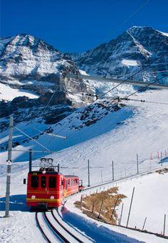 Jungfraubahn at Kleine Scheidegg Switzerland