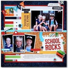 School Rocks! layout designed by Cari Locken using our Smarty Pants collection