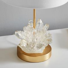 Shop teen lamps featuring mix and match shades and bases. Design the perfect table accent lamps with Pottery Barn Teen's lighting design tool. Crystal Room Decor, Crystal Bedroom, Crystal Lamps, Pottery Barn Bedrooms, Pottery Barn Teen, Crystals In The Home, Diy Crystals, Geode Decor, Table Lamps For Bedroom
