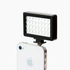 A bright LED continuous light for your iPhone, smart photo, or even your SLR.  This little rechargeable light packs a punch. Small and handy, but super bright at close proximity, so we recommend using tissues as a modifier.