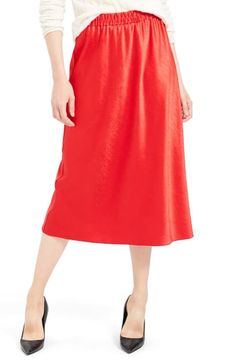 THEORY EASY PULL-ON SATIN MIDI SKIRT. #theory #cloth