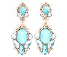 Maggie Earrings in Blue Opalescence on Emma Stine Limited