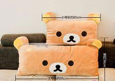 63*42 CM Kawaii Rilakkuma Plush Pillow Case,Pillow Cover from Elena's House $15