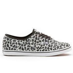 Vans Leopard Suede Authentic Lo Pro Girls Shoes Grey