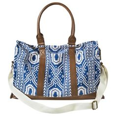 $34.99 // Mossimo Supply Co. Print Weekender Handbag - Blue/White