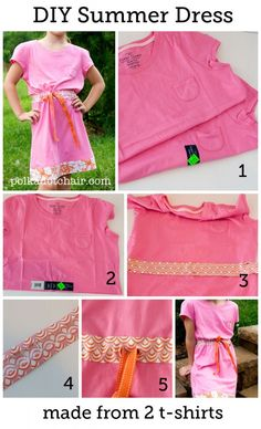 DIY Fashion: Create a Summer Dress from two t-shirts.