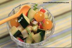 gazpacho salad (use husk tomatoes)