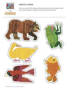 Eric Carle Create a Story Preschool Literacy, Preschool Books, Early Literacy, Literacy Activities, Preschool Activities, Brown Bear Activities, Eric Carle, Felt Stories, Bear Theme