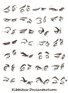 Modèles d'yeux Style BD