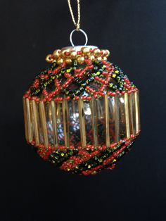 """Beaded ornament for Kay 2015 (idea only; I am not """"user"""")"""