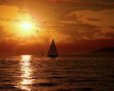 Fine Art America, Sailing, Sunshine, Wall Art, Sunset, Day, Outdoor, Image, Candle