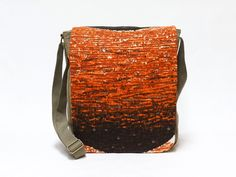 Gitte - Canvas Messenger Bag | Crossbody bag | Retro shoulder bag upcycled with original vintage fabric by EllaOsix by EllaOsix on Etsy