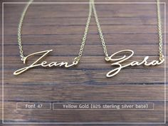 20% OFF // Font 47 // Custom name necklace  by barbabelle88