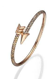 Padani - rose gold with brown diamonds
