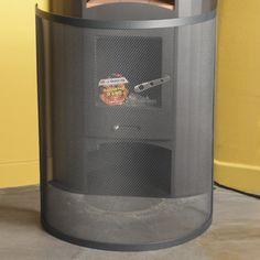 Pare feu en acier époxy arrondi spécial poêle anthracite Courbe