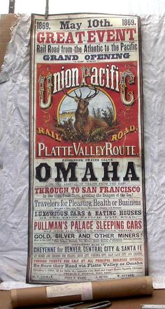 1869 GREAT EVENT Union Pacific Railroad Golden Spike Centennial, May 10, 1969. Omaha