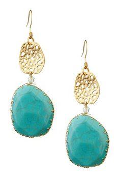 Turquoise Drop Earrings / Monique Leshman
