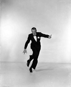 Full publicity shot of Fred Astaire as Bert Kalmar dancing, for MGM's Three Little Words (1950), starring Fred Astaire and Vera-Ellen