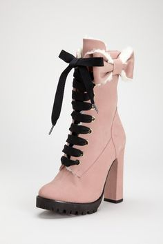 Valentino Lace Up Booties