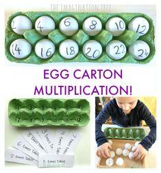 Egg Carton Multiplication Game