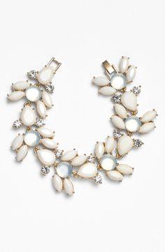 Pretty! Love this white sparkly stone bracelet.