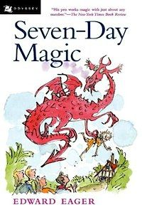 Seven Day Magic by Edward Eager. A magic library take five friends on adventures.